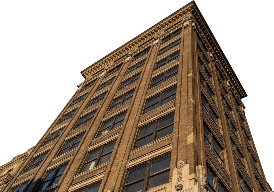 arcade brick building